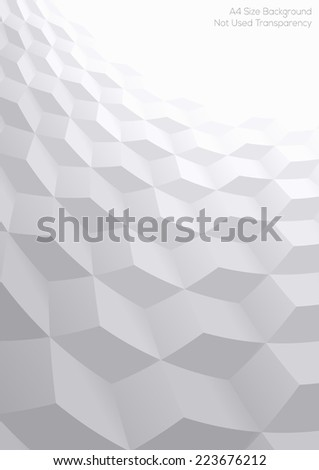 Abstract perspective background with 3d cubes - stock vector