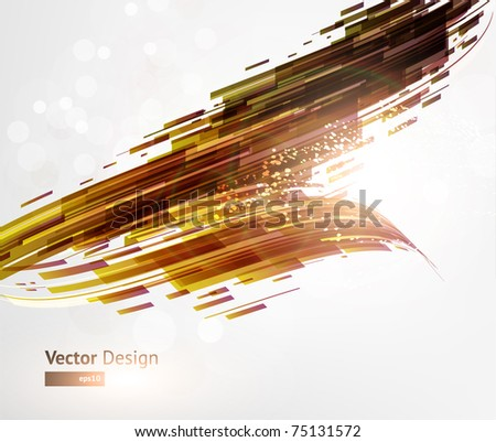 Abstract Perspective Techno background. Eps 10. - stock vector