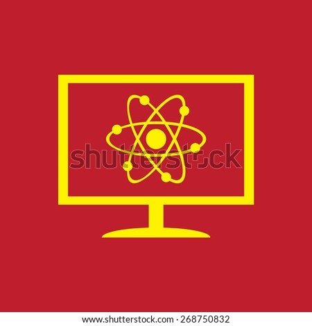 abstract physics science model icon, vector illustration - stock vector