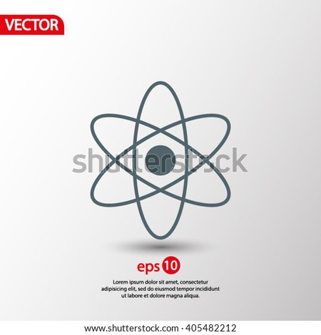 abstract physics science model icon, vector illustration.  - stock vector
