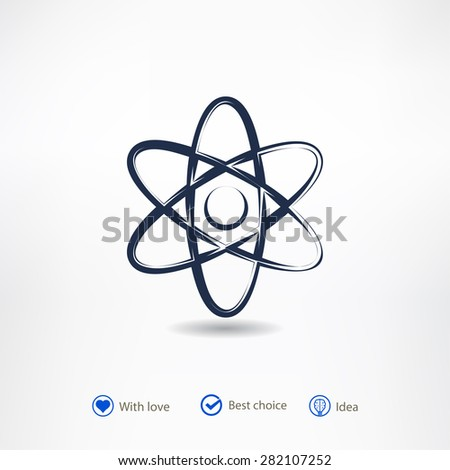 abstract physics science model icon, vector illustration. Flat design style - stock vector