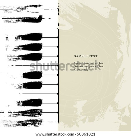 Abstract piano - stock vector