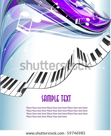 Abstract piano background. 10 eps vector. - stock vector