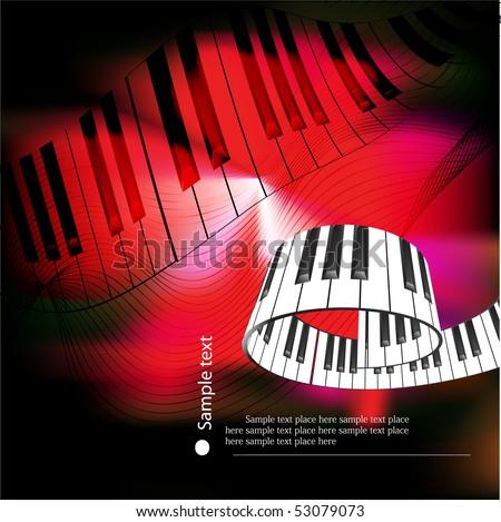 abstract piano keyboard - stock vector