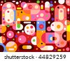 Abstract pills-like background - vector - stock vector