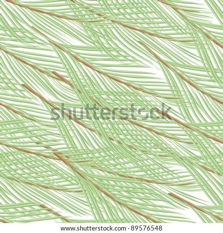Abstract pine branch seamless pattern background