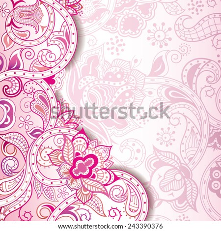 Abstract Pink Floral Background - stock vector