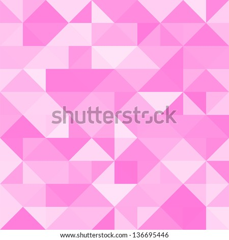Abstract pink triangle background. Vector illustration for your abstract cute romantic design. Can be used for cover book, textile, web page background, surface texture. - stock vector