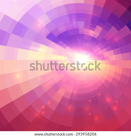 Abstract pink vector circle technology background - stock vector