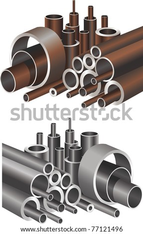 abstract pipes - stock vector