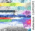 Abstract pixel art color background - stock vector