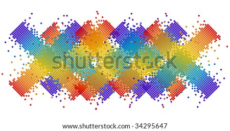 abstract pixel in various colors vector illustrated - stock vector