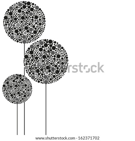 abstract plant - vector illustration - stock vector