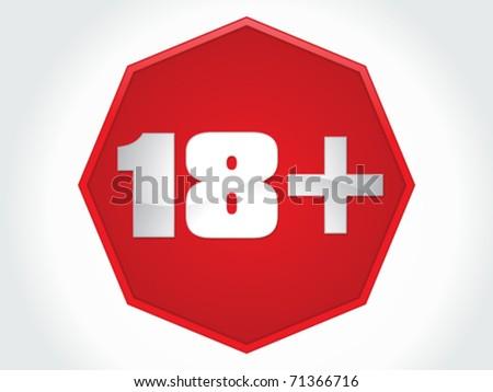 abstract 18 plus warning vector illustration - stock vector