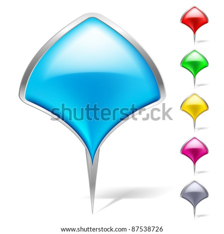Abstract Pointers set. Illustration on white background for design - stock vector