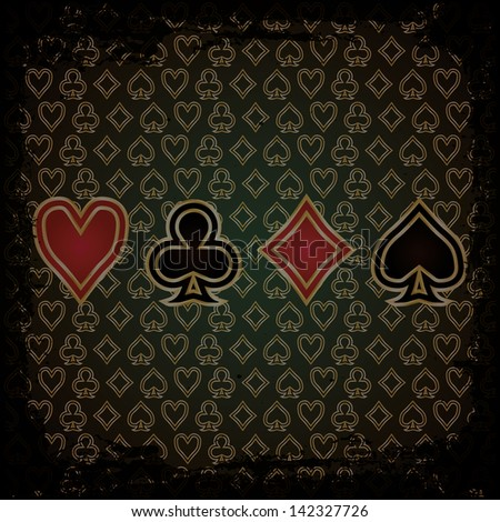 Abstract Poker wallpaper, vector illustration