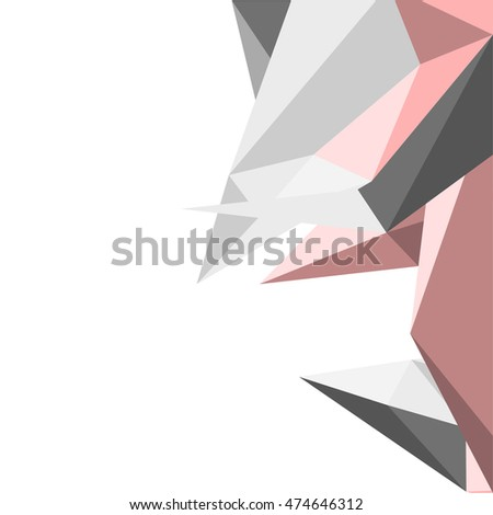 abstract polygon background, geometric vector illustration