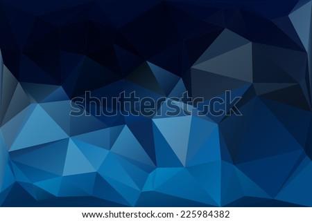 Abstract polygon blue background, Vector. - stock vector