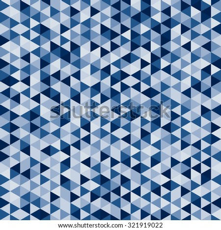 abstract polygon pattern background with blue shade - stock vector