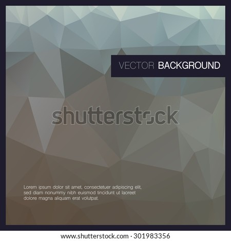 Abstract polygonal background.Vector Illustration.   - stock vector