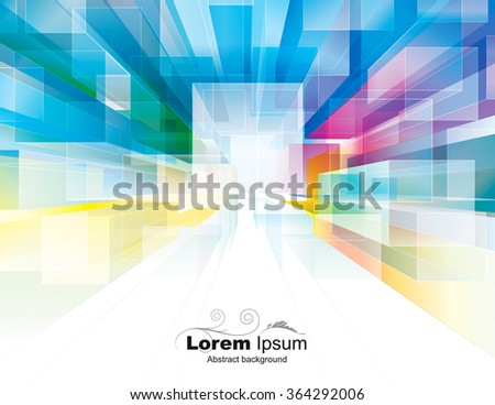 Abstract polygonal cubes background suitable for interior or architecture. - stock vector