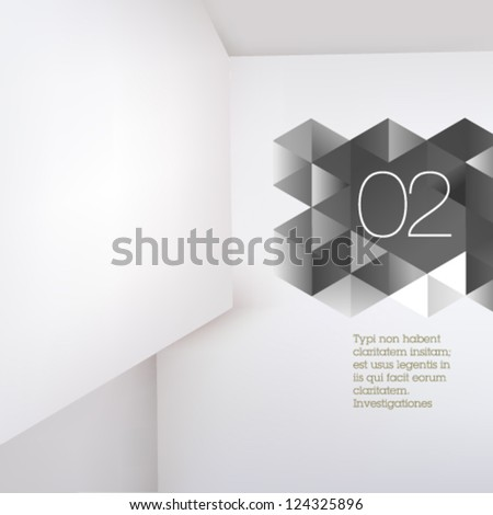 Abstract polygonal design / abstract form suitable for infographics, book cover or web banner - stock vector