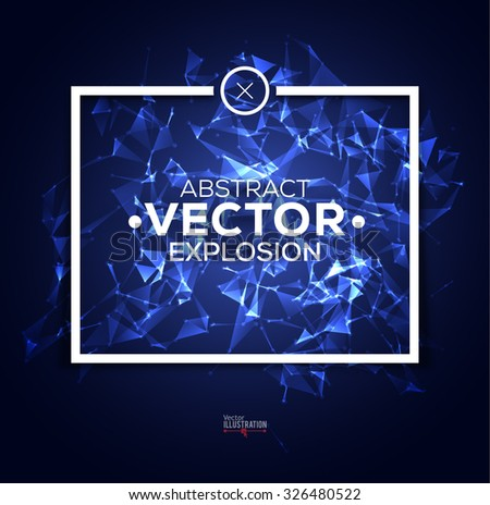 Abstract Polygonal Frame Design. Concept for Electronic Music Graphic Design. Dubstep Design. Vector illustration. - stock vector