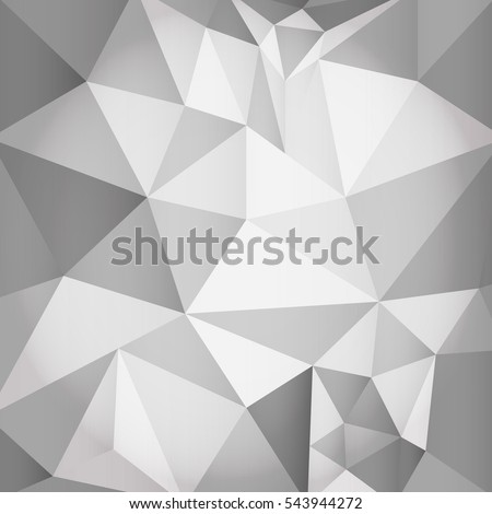 Abstract polygonal grayscale background vector illustration