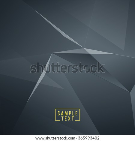 Abstract polygonal space low poly dark background. Connection structure. Polygonal vector background. Futuristic HUD background. EPS10. - stock vector