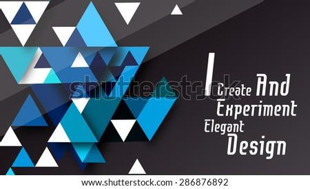 Abstract polygonal space low poly pattern with figures background vector  - stock vector