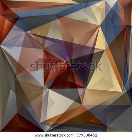 Abstract Polygonal Style. Triangular Background.