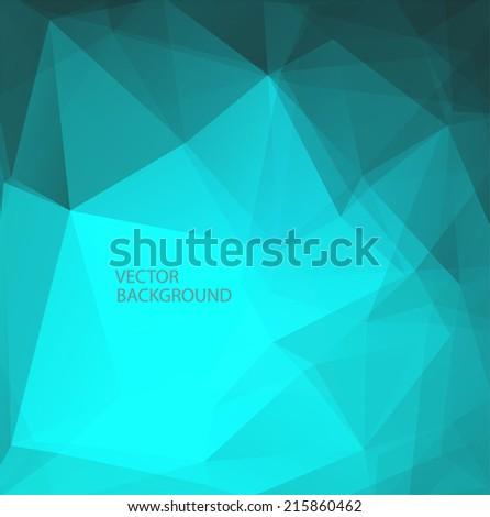 Abstract polygonal vector background - stock vector