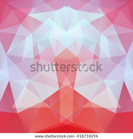 Abstract polygonal vector background. Colorful geometric vector illustration. Creative design template. Pink, orange, red, blue colors.  - stock vector