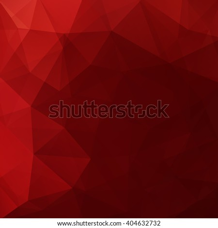 Abstract polygonal vector background. Red geometric vector illustration. Creative design template. Red colors.  - stock vector