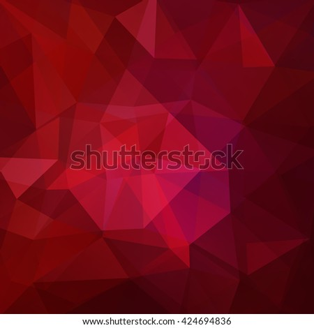 Abstract polygonal vector background. Red geometric vector illustration. Creative design template. Red, purple, pink colors.  - stock vector