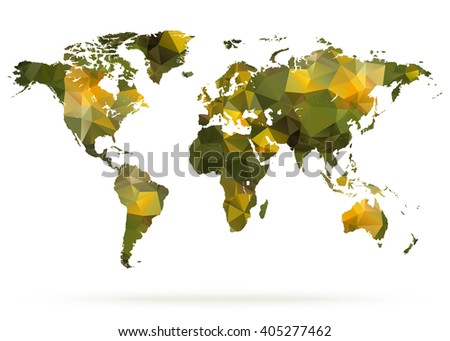 Abstract polygonal world map vector