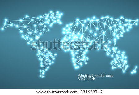 Abstract polygonal world map glowing dots stock vector 331633712 abstract polygonal world map with glowing dots and lines network connections vector illustration gumiabroncs Images