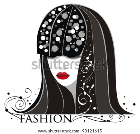 abstract portrait of  woman - stock vector