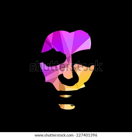 Abstract portrait of woman, easy editable - stock vector