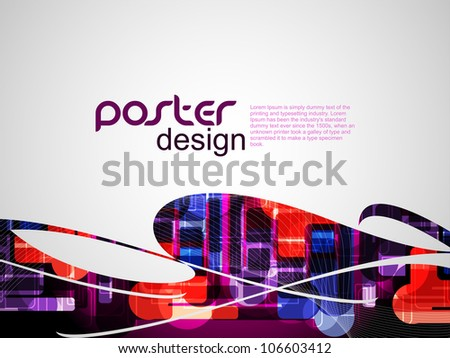 Abstract poster background with colorful design. vector illustration. - stock vector