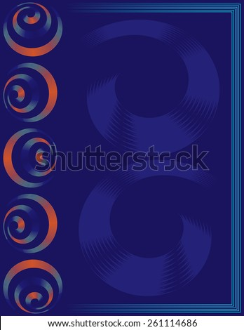 Abstract poster, banner, magazine, flyer, brochure, cover layout with spiral elements vector design