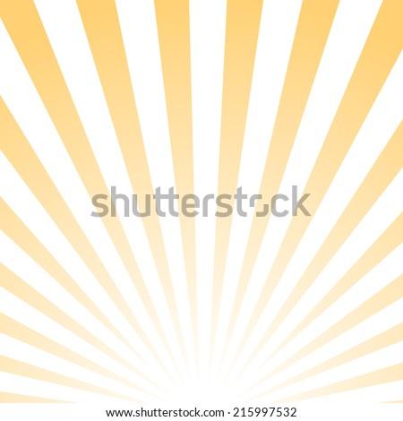 Abstract poster, sunrise pattern, vector illustration - stock vector