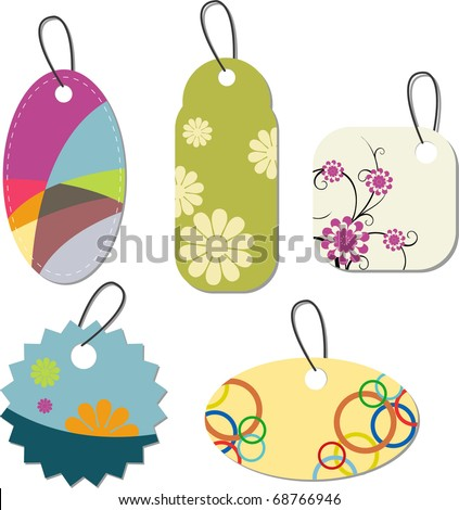 abstract price labels or tags