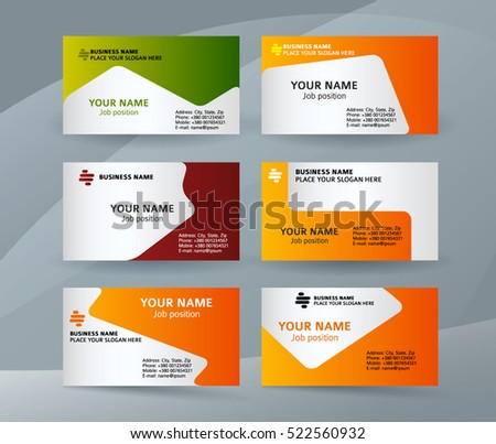 Abstract Professional And Designer Business Card Template Or Clear Minimal Visiting Set Name