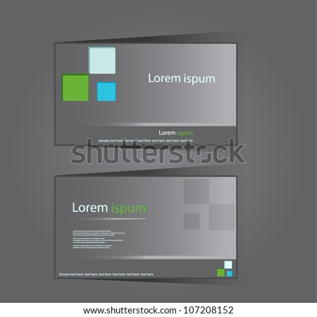 Abstract professional and designer  corporate business card template design - stock vector