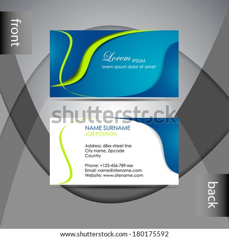 Abstract professional business card template visiting stock photo abstract professional business card template or visiting card setdesign for publishing print and accmission Image collections