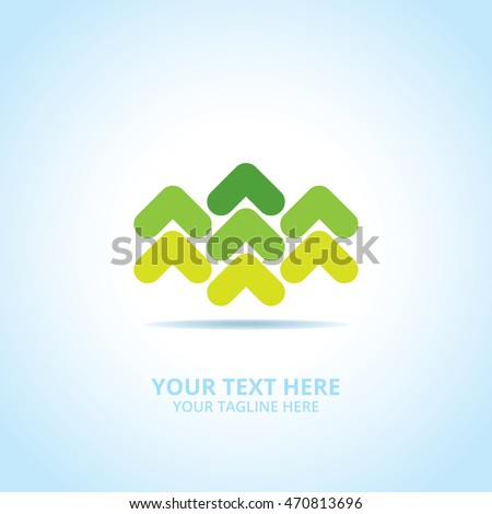 Abstract Progress logo, design concept, emblem, logotype element for template.