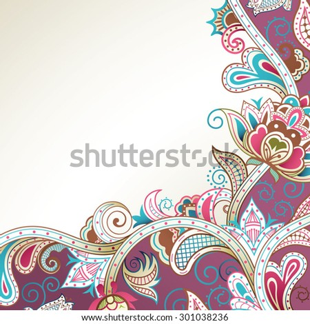 Abstract Purple Floral Background - stock vector
