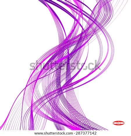 abstract purple line pink wave violet band isolated on white background. vector illustration - stock vector