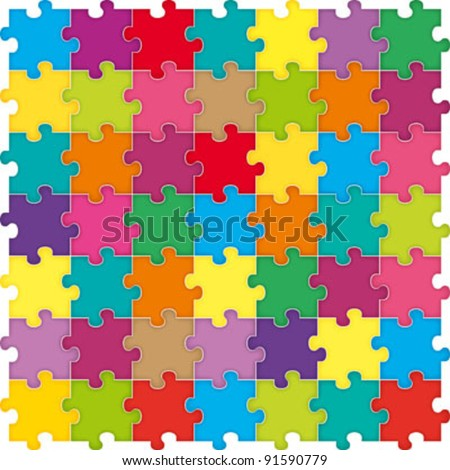 Abstract puzzle background - stock vector